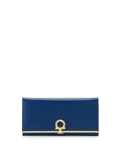 Icona Continental Flap Wallet, Sapphire