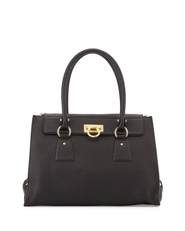 e441f31cb05d Salvatore Ferragamo Lotty Medium Leather Satchel Bag