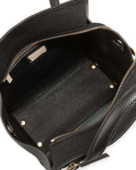 Small Leather Tote Bag, Nero