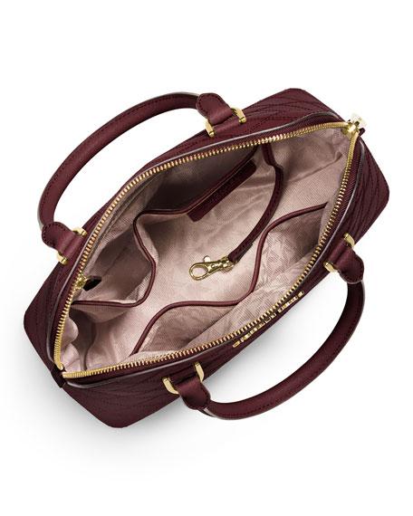 Cindy Medium Dome Satchel Bag, Merlot