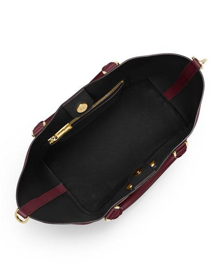 Greenwich Large Grab Bag, Merlot/Black