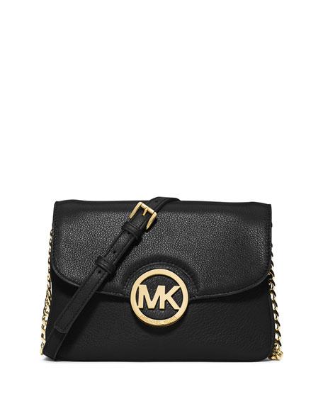 MICHAEL Michael Kors Fulton Flap Crossbody Bag, Black