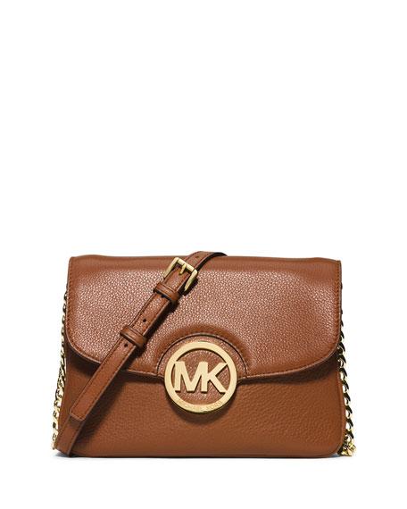 MICHAEL Michael Kors Fulton Flap Crossbody Bag, Luggage