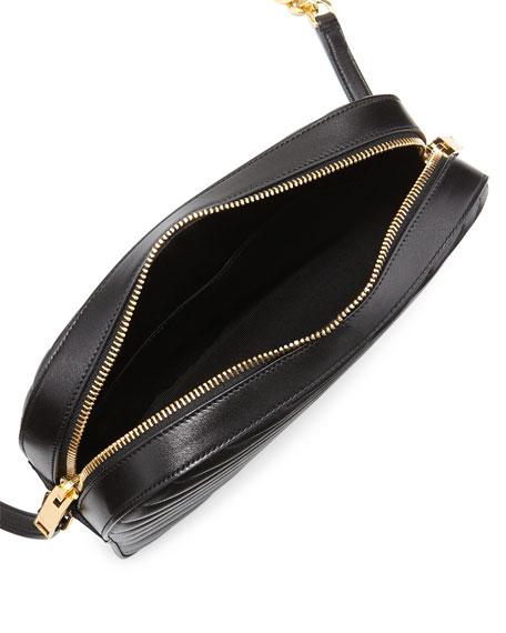 Saint Laurent Monogram Camera Medium Sheep Leather Shoulder Bag, Black