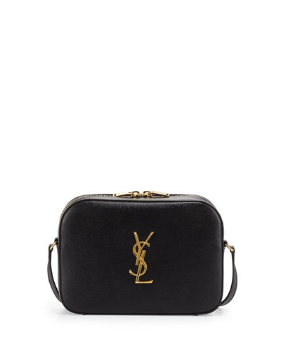 Monogram Camera Medium Crossbody Bag, Black
