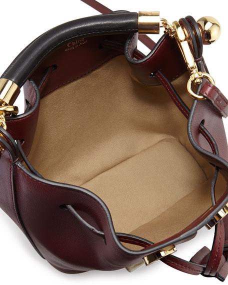 Chloe Gala Small Leather Bucket Bag, Bordeaux