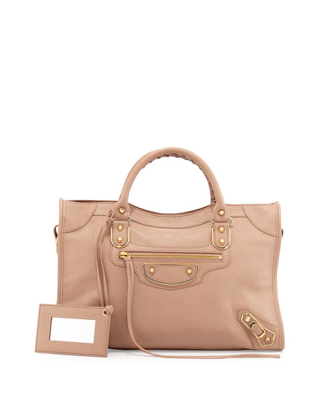BalenciagaMetallic Edge City Bag, Rose