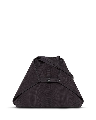 Ai Python Medium Shoulder Bag, Black