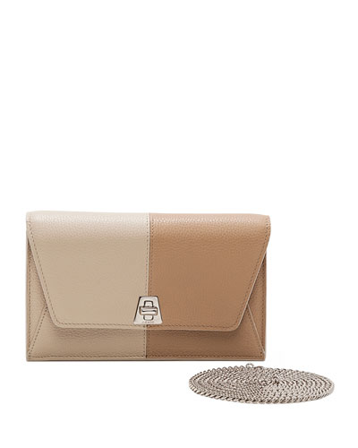 Anouck Clutch Bag w/Chain, Chartreuse
