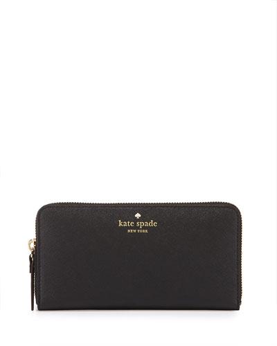 cedar street lacey wallet, black