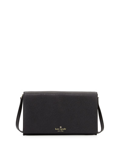 cedar street cali crossbody bag, black
