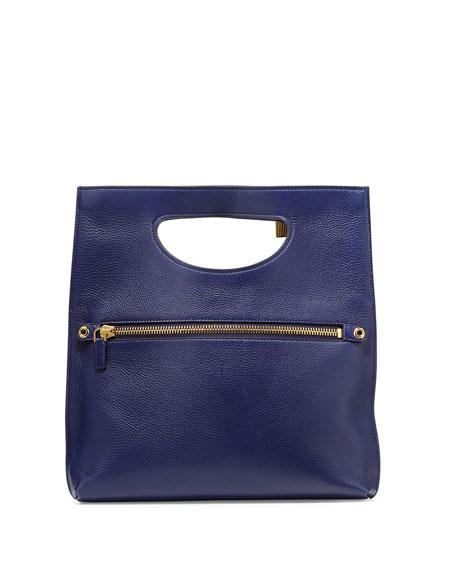 Alix Fold-Over Crossbody Bag, Sapphire Blue