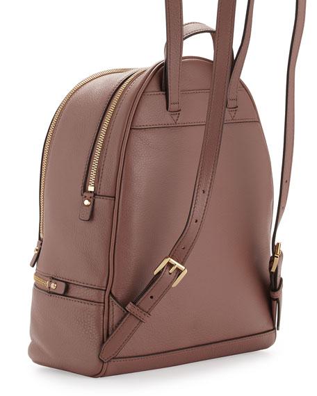 Rhea Small Zip Backpack, Dusty Rose