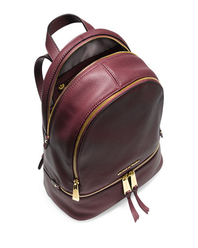 Rhea Small Zip Backpack, Merlot