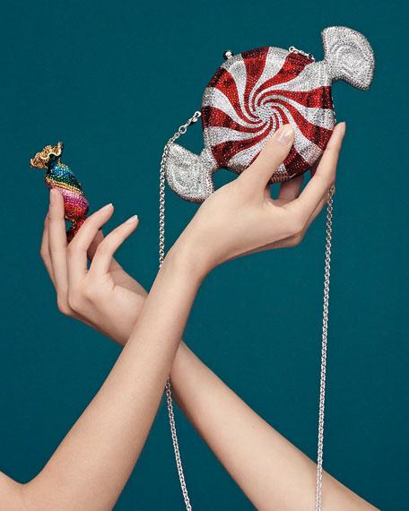 Peppermint Candy Crystal Clutch Bag