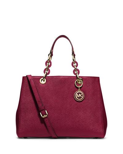 Hamilton Medium Satchel Bag, Cherry