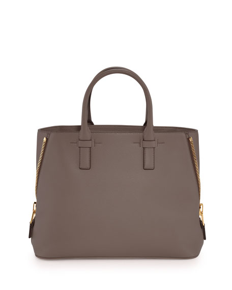 TOM FORD Jennifer Small Trap Leather Tote Bag,