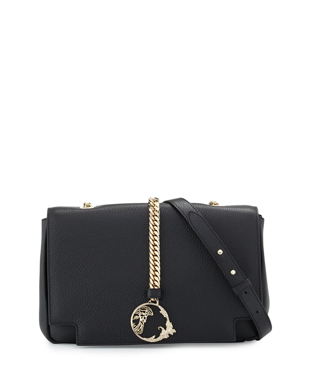 VersacePebbled Leather Shoulder Bag 6c5c8bcf1f6a2