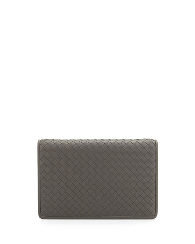 Bottega Veneta Intrecciato Medium Woven Clutch Bag, Light