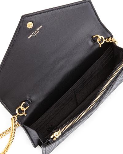 classic small monogram saint laurent satchel in pink grain de ...