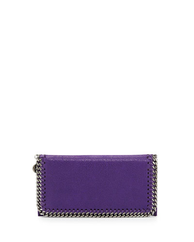Falabella Chain Flap Wallet, Bright Purple