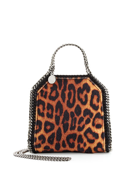 Stella McCartney Falabella Leopard-Print Tiny Tote Bag
