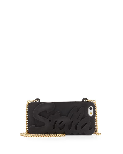 Logo Script iPhone 6 Case on Chain, Black