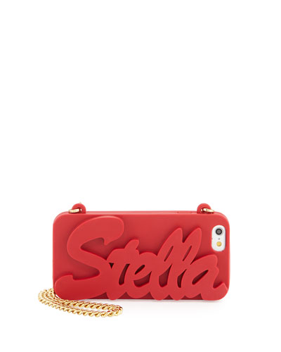 Logo Script iPhone 6 Case on Chain, Cherry