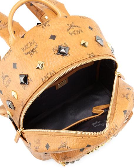 Stark M Stud Small Backpack, Cognac