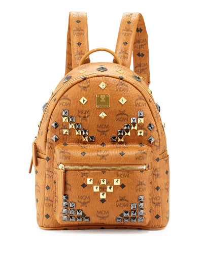 Stark M Stud Small Backpack, Cognac