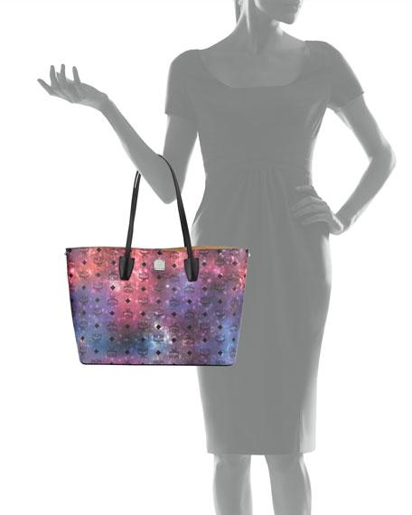 Galaxy Visetos Medium Tote Bag, Multicolor