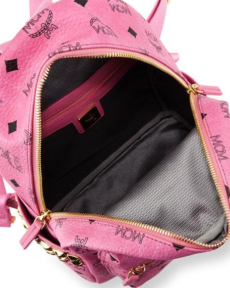 Stark Side-Stud Mini Backpack, Pink