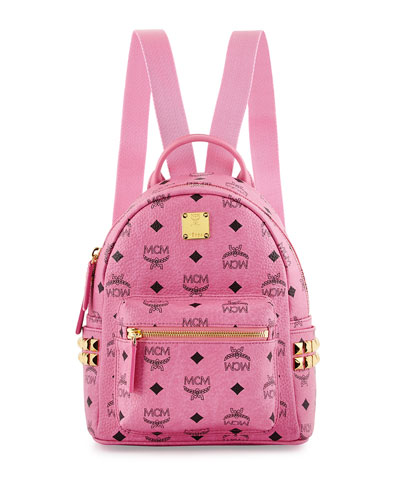 Stark Side-Stud Mini Backpack, Pink