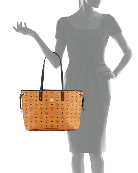 Shopper Project Visetos Medium Reversible Shopper Tote Bag, Cognac