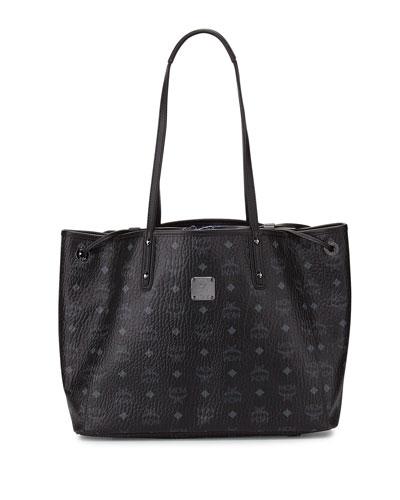 Liz Reversible Medium Shopper Tote Bag, Black