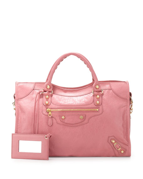 BalenciagaGiant 12 City Bag, Rose