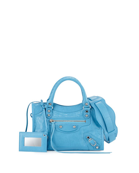 Balenciaga Classic Nickel City Mini AJ Bag, Bright