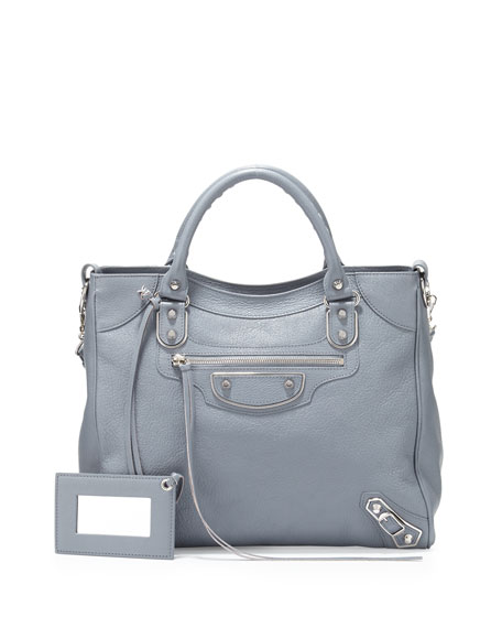 Balenciaga Metallic Edge Nickel Classic Velo AJ Bag,