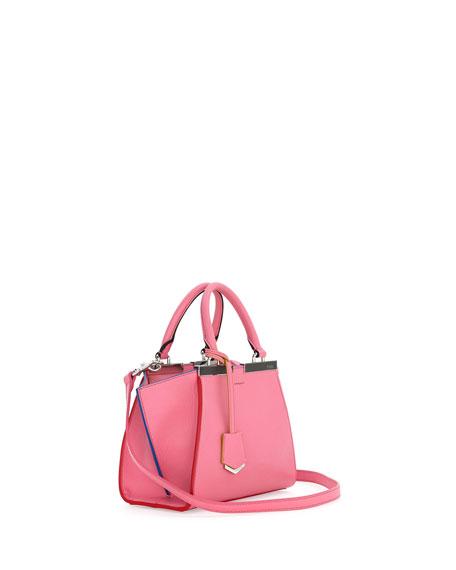 3 Jours Mini Leather Satchel Bag, Pink