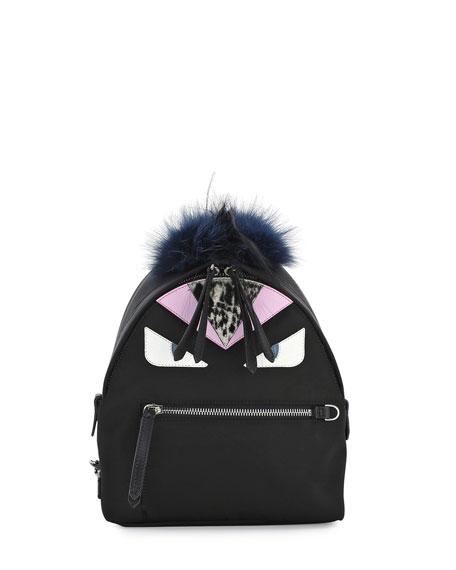 Mohawk Monster Backpack Bag, Black Multi