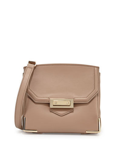 Prisma Marion Leather Crossbody Bag, Sand
