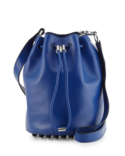 Alpha Leather Bucket Bag, Vein