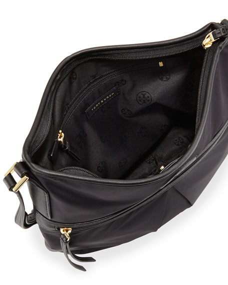 Nylon Swing Pack Crossbody Bag Black