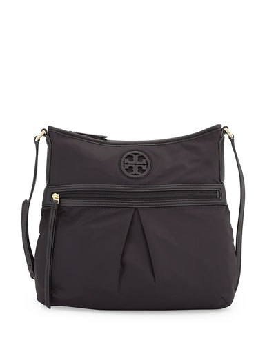 Nylon Swing Pack Crossbody Bag, Black