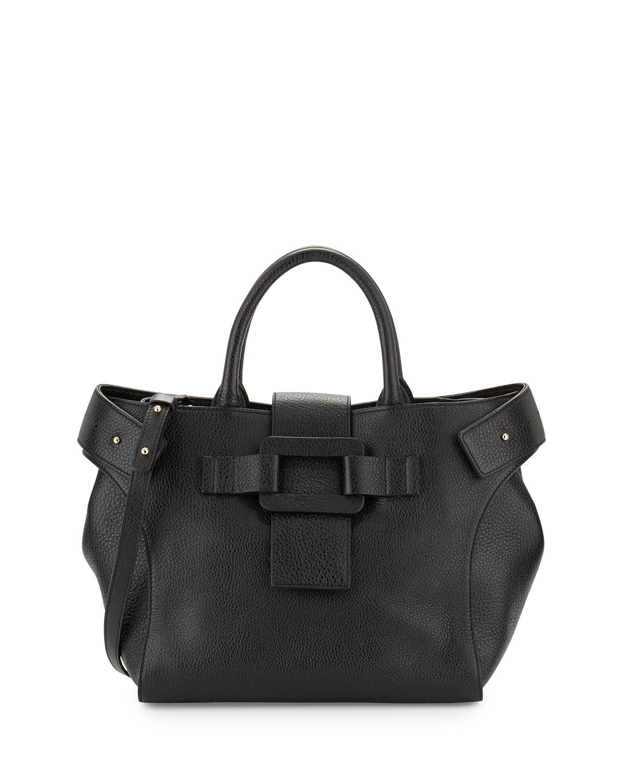 Roger Vivier Pilgrim de Jour Medium Leather Shopping Tote Bag ... b71736efa7e19