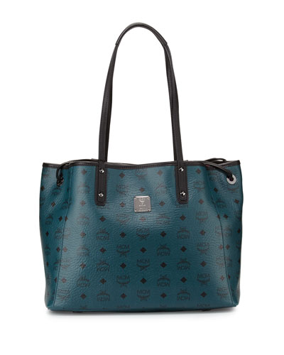 Galaxy Reversible Medium Shopper Tote Bag, Vega Green