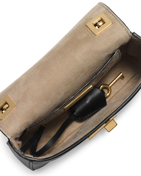 Gia Small Chain-Strap Flap Bag, Black