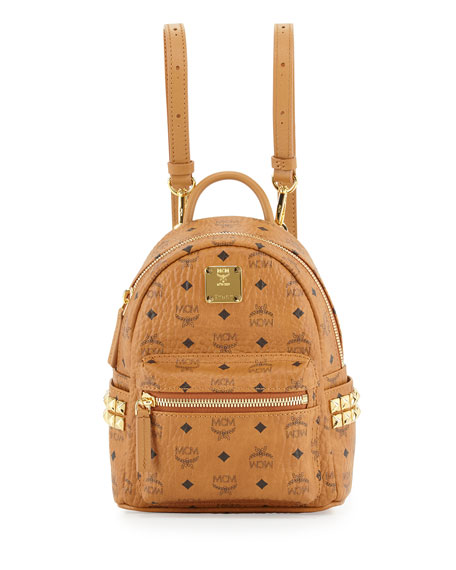 Stark X-Mini Studded Backpack, Cognac