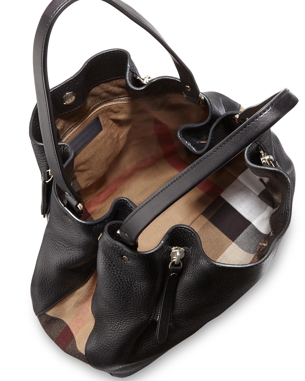 500b4ed748 Burberry Maidstone Brit Medium Tote Bag, Black | Neiman Marcus