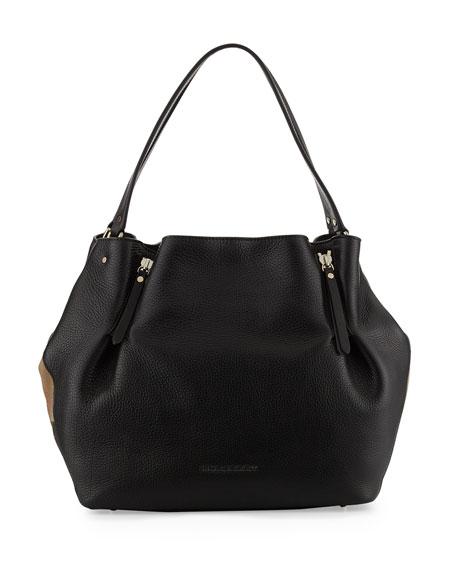 Burberry Maidstone Brit Medium Tote Bag Black Neiman Marcus